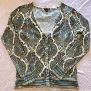 Paisley print Merona cardigan sweater
